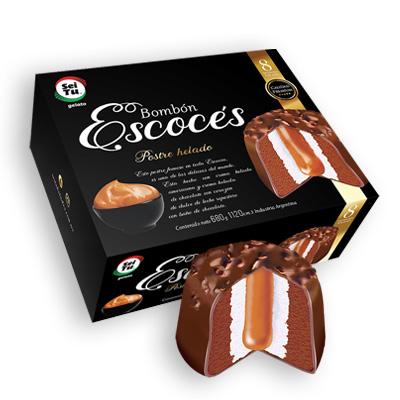 Bombón escocés con cobertura de chocolate negro