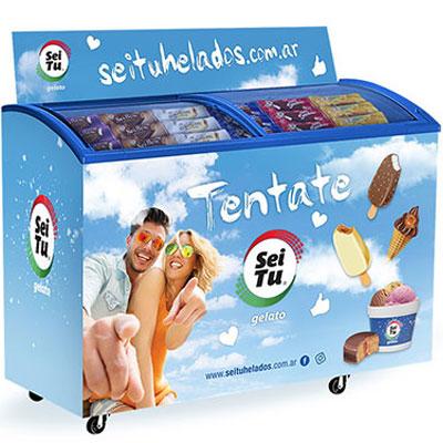 Freezer con helados Sei Tu